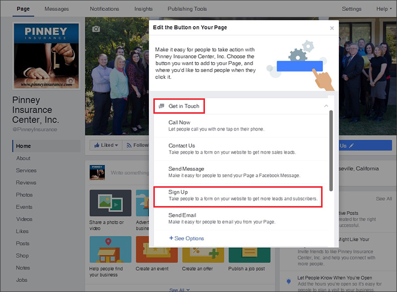 Editing your Facebook sign-up button