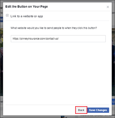 Edit the sign-up button for your Facebook page