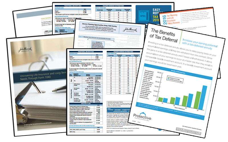 April Sales Kit: Tax Strategies photo collage