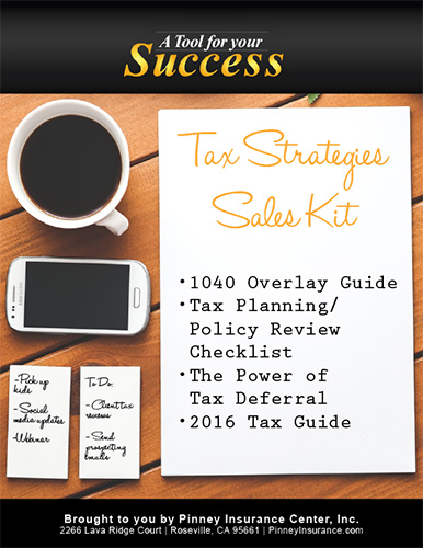 PIC April Sales Kit: Tax Strategies