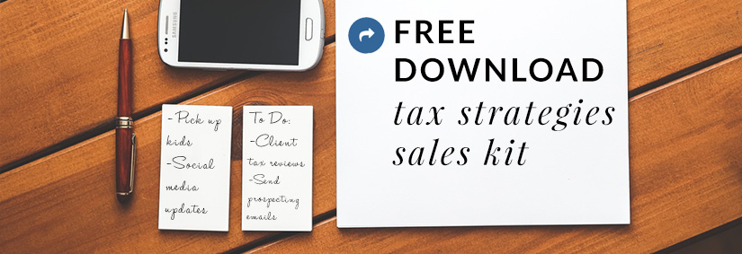 April Sales Kit: Tax Strategies