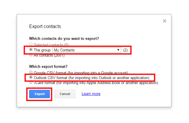 How to Export Contacts from Outlook or Gmail | Pinney Insurance