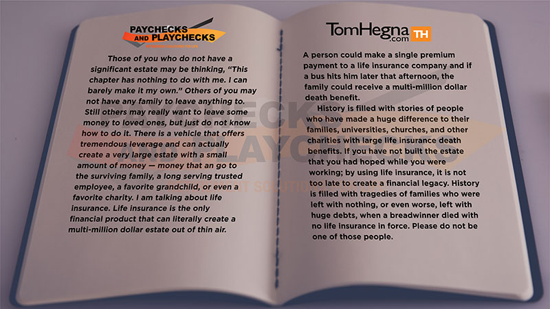 Chapter 8 Excerpt of Paychecks & Playchecks: Retirement Solutions for Life by Tom Hegna