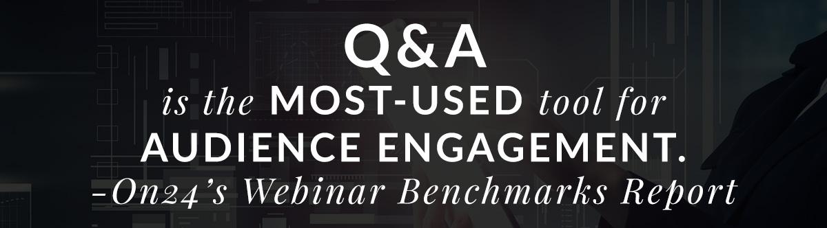 Prospecting via Webinars: Use Q&A for Engagement