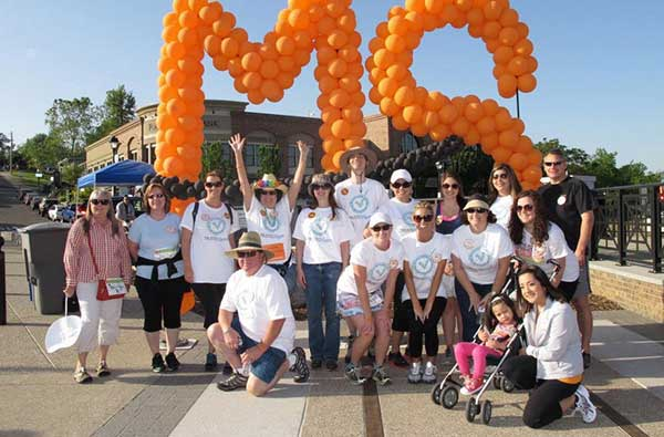 A group photo of the Trusted Quote team at the Folsom Walk MS event, there to support our own Jerilyn Beesley