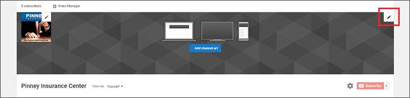 YouTube edit links option