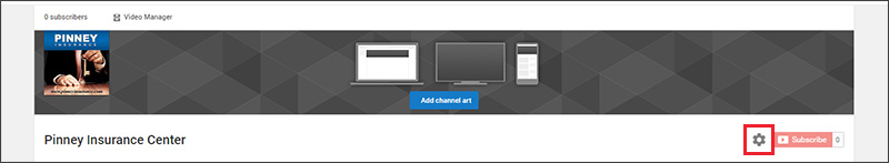 YouTube channel options