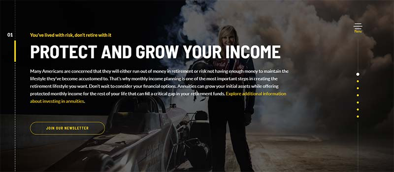 Screenshot of the Alliance for Lifetime Income's consumer-facing website, retireyourrisk.org