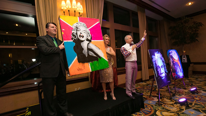 Paintings by Erik Wahl up for auction as part of the NAILBA Charitable Foundation live auction at NAILBA 2016