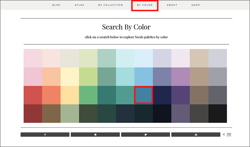 Design-Seeds - search by color