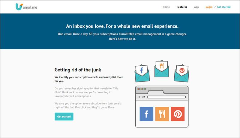 Unroll.me website