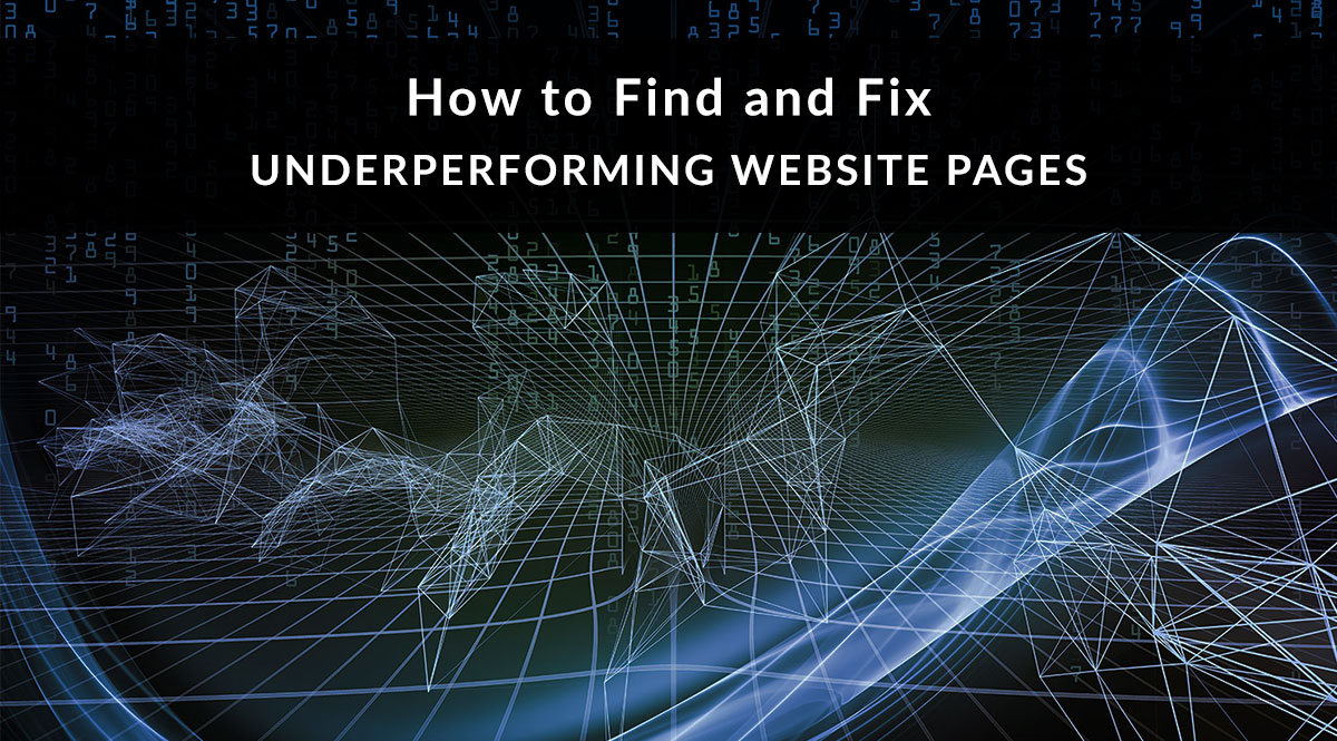 How do I fix my search console under performing web pages