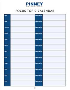 Focus Topic Calendar Template