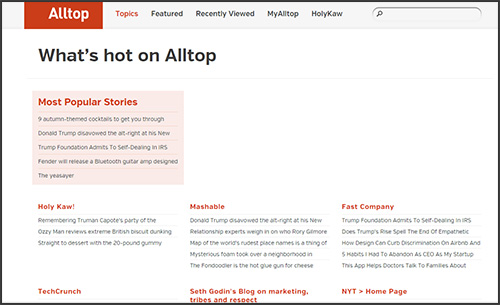 Alltop: a curated source of content you can share on social media