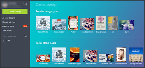 Canva: a tool to make a quick sharable image for social media
