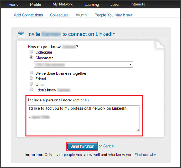 LinkedIn updates: customize connection requests