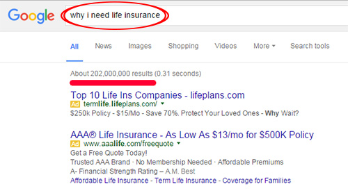 Life Insurance Google Search Results