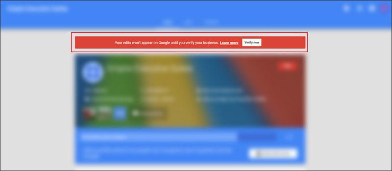 Google My Business unverified account