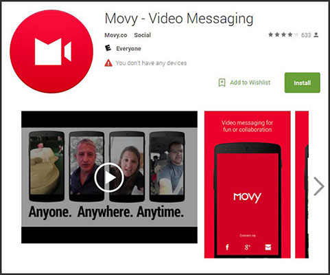 Use Movy for video messaging