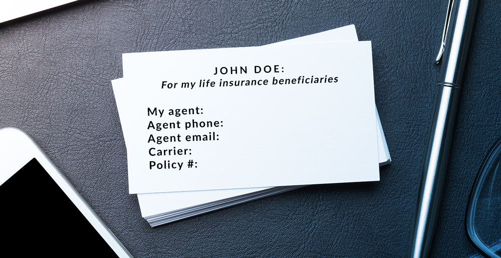 Screenshot of a business card printed with the blanks listed above, ready to be filled out and distributed to a client.