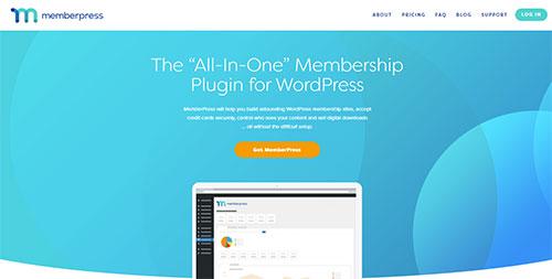 Screenshot of the MemberPress plugin website