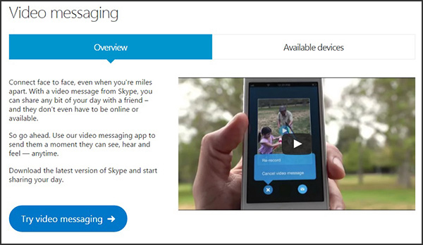 Use Skype for video messaging