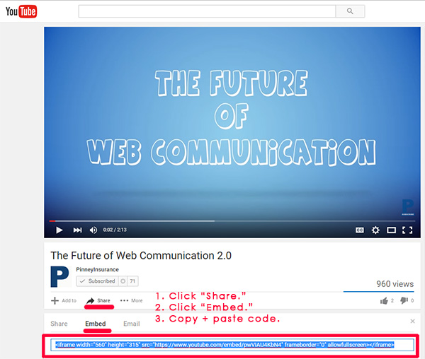 Video Marketing: YouTube Embed Code