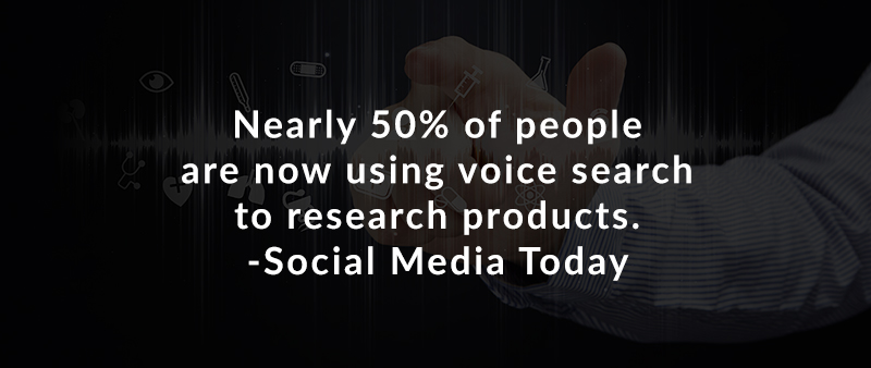 Nearly 50% of people are now using voice search to research products. – Social Media Today