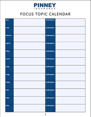 Screenshot of our focus topic calendar worksheet and template